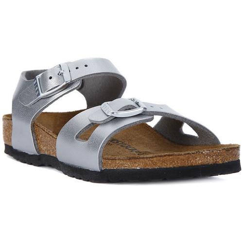 Παπούτσια Γυναίκα Σανδάλια / Πέδιλα Birkenstock RIO SILVER Argento