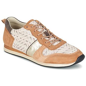 Παπούτσια Γυναίκα Χαμηλά Sneakers Bocage LANNY COGNAC / άσπρο