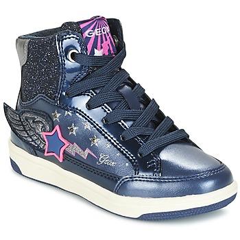 Παπούτσια Κορίτσι Ψηλά Sneakers Geox J CREAMY A MARINE / ροζ