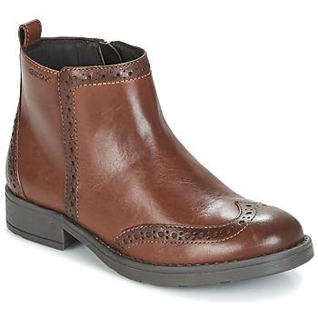 Παπούτσια Κορίτσι Μπότες Geox J SOFIA F Brown