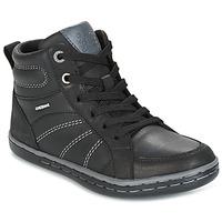 Παπούτσια Αγόρι Ψηλά Sneakers Geox J GARCIA B. B Black / Grey