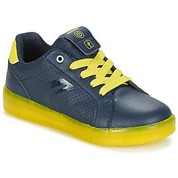 Παπούτσια Αγόρι Χαμηλά Sneakers Geox J KOMMODOR B.B Marine / Yellow