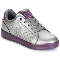 Παπούτσια Κορίτσι Χαμηλά Sneakers Geox J KOMMODOR G.A Silver / Prune
