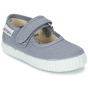 Παπούτσια Κορίτσι Μπαλαρίνες Victoria MERCEDES VELCRO LONA Grey