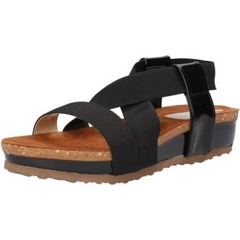 Παπούτσια Γυναίκα Σανδάλια / Πέδιλα Olga Rubini sandali nero tessuto vernice AF792 nero