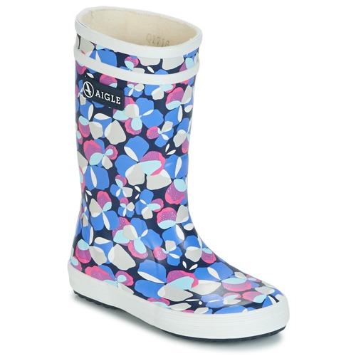 Παπούτσια Κορίτσι Μπότες βροχής Aigle LOLLY POP GLITTERY Μπλέ