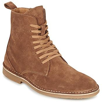 Παπούτσια Άνδρας Μπότες Selected ROYCE HIGH Cognac
