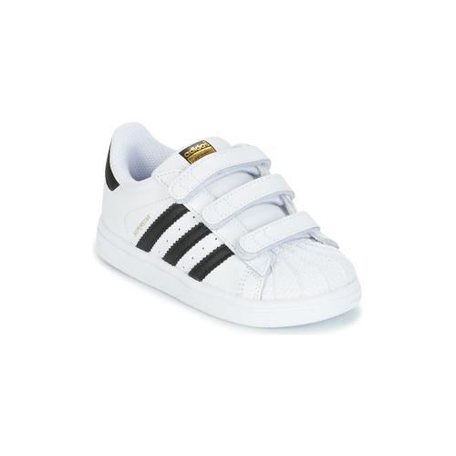 Παπούτσια Παιδί Χαμηλά Sneakers adidas Originals SUPERSTAR CF I Άσπρο / Black