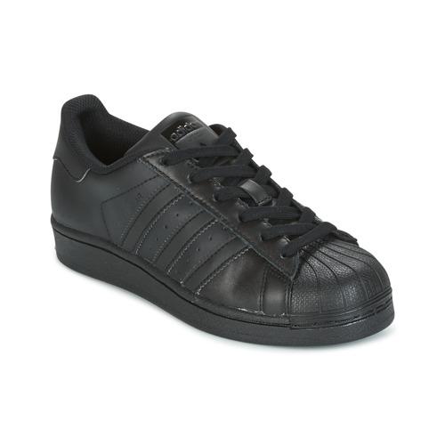 Παπούτσια Παιδί Χαμηλά Sneakers adidas Originals SUPERSTAR Black