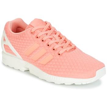 Παπούτσια Γυναίκα Χαμηλά Sneakers adidas Originals ZX FLUX W Ροζ / Άσπρο