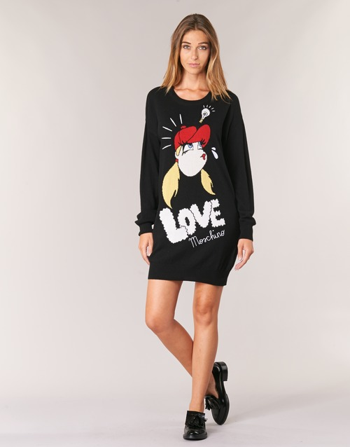 Υφασμάτινα Γυναίκα Κοντά Φορέματα Love Moschino WS45S01X0608 Black