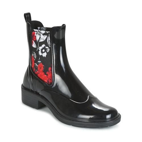 Παπούτσια Γυναίκα Μπότες Desigual MID RAIN BOOT BN&RED Black