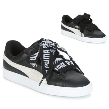 Παπούτσια Γυναίκα Χαμηλά Sneakers Puma Basket Heart DE Black / άσπρο