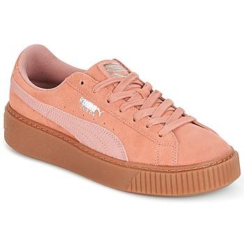 Παπούτσια Γυναίκα Χαμηλά Sneakers Puma Suede Platform Core Gum Ροζ