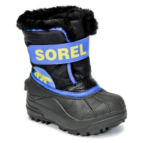 Παπούτσια Παιδί Snow boots Sorel CHILDRENS SNOW COMMANDER Black / Μπλέ
