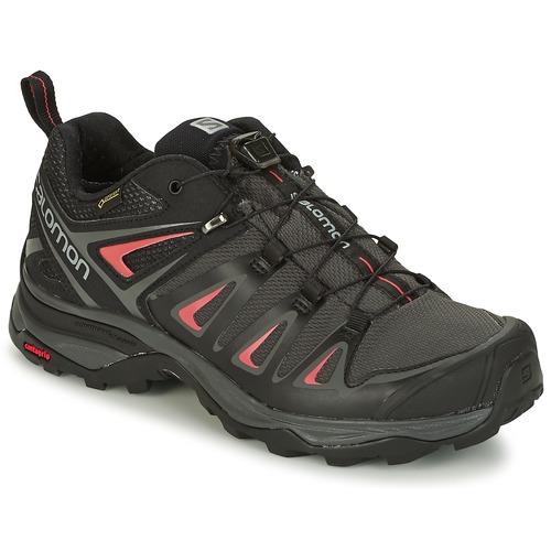 Παπούτσια Γυναίκα Πεζοπορίας Salomon X ULTRA 3 GTX® Black / Red