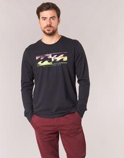 Υφασμάτινα Άνδρας Μπλουζάκια με μακριά μανίκια Billabong INVERSE TEE LS Black