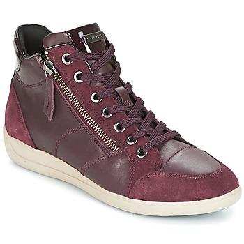 Παπούτσια Γυναίκα Ψηλά Sneakers Geox D MYRIA BORDEAUX