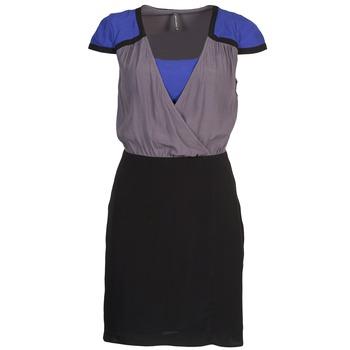 Υφασμάτινα Γυναίκα Κοντά Φορέματα Naf Naf LYFAN Black / Grey / Μπλέ
