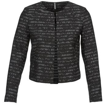 Υφασμάτινα Γυναίκα Σακάκι / Blazers Naf Naf LYMINIE Grey / Black