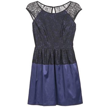 Υφασμάτινα Γυναίκα Κοντά Φορέματα Naf Naf LYLITA Black / MARINE