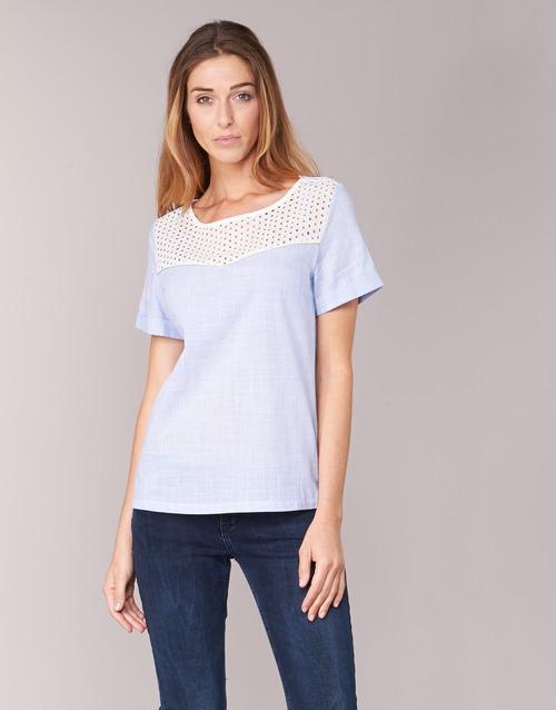 Υφασμάτινα Γυναίκα Μπλούζες Betty London GERMA Άσπρο / Μπλέ