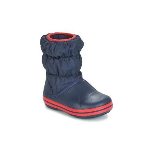 Παπούτσια Παιδί Μπότες βροχής Crocs WINTER PUFF BOOT KIDS MARINE