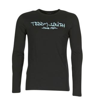 Υφασμάτινα Άνδρας Μπλουζάκια με μακριά μανίκια Teddy Smith TICLASS 3 ML Black