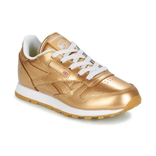 Παπούτσια Κορίτσι Χαμηλά Sneakers Reebok Classic CLASSIC LEATHER MET Gold