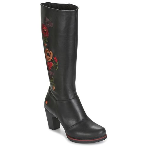 Παπούτσια Γυναίκα Μπότες για την πόλη Art GRAN-VIA Black