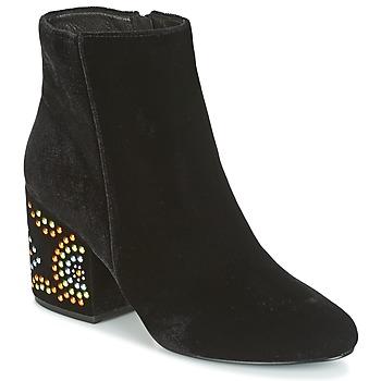 Παπούτσια Γυναίκα Μποτίνια Café Noir GIROU Black