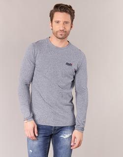 Υφασμάτινα Άνδρας Μπλουζάκια με μακριά μανίκια Superdry ORANGE LABEL VINTAGE Grey