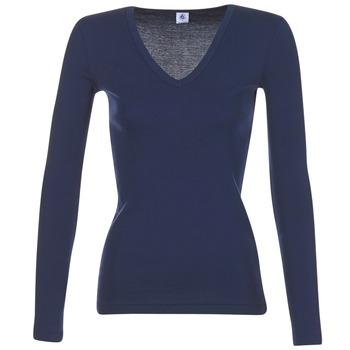 Υφασμάτινα Γυναίκα Μπλουζάκια με μακριά μανίκια Petit Bateau LEOSA MARINE