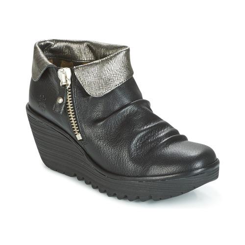 Παπούτσια Γυναίκα Μπότες Fly London YOXI Black / Argenté