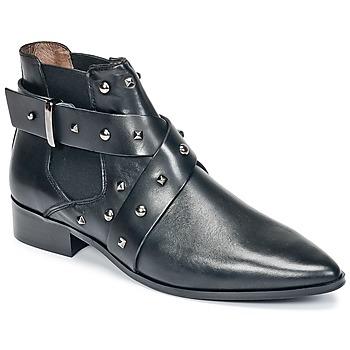 Παπούτσια Γυναίκα Μπότες Ikks LOW BOOTS BRIDGE ROCK Black