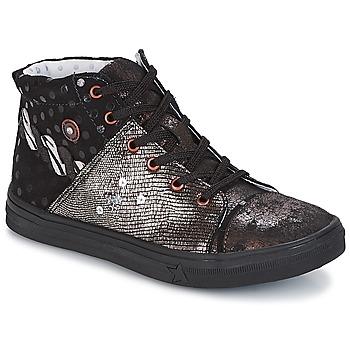 Παπούτσια Κορίτσι Μπότες Catimini ROUSSEROLLE Black / Cuivré