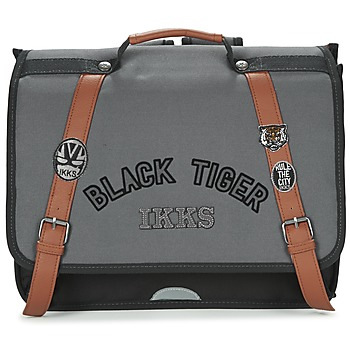 Τσάντες Αγόρι Σάκα Ikks BLACK TIGER CARTABLE 38CM Black / Grey / Brown