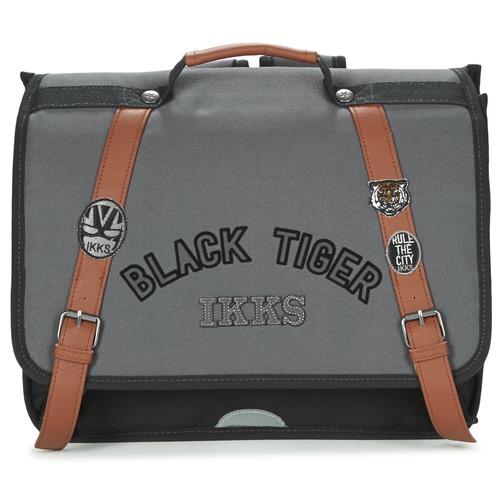 Τσάντες Αγόρι Σάκα Ikks BLACK TIGER CARTABLE 38CM Black / Grey / Brown