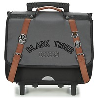 Τσάντες Αγόρι Σχολικές τσάντες με ροδάκια Ikks BLACK TIGER CARTABLE TROLLEY 38CM Grey / Black