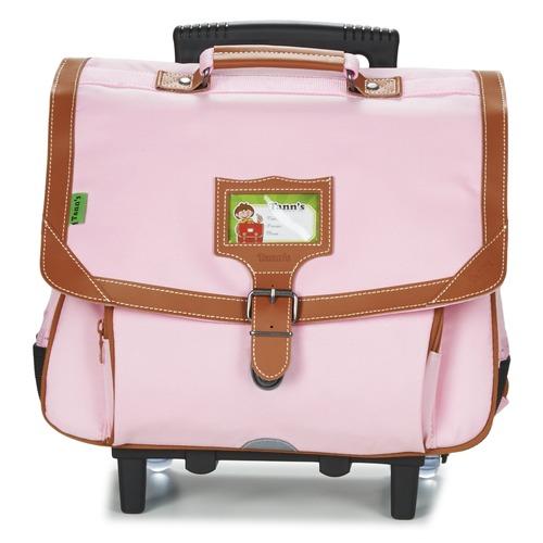 Τσάντες Κορίτσι Σχολικές τσάντες με ροδάκια Tann's LES INCONTOURNABLES TROLLEY CARTABLE 38CM Ροζ / Tendre