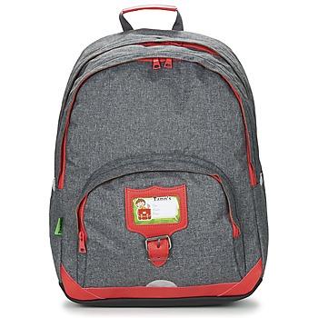 Τσάντες Παιδί Σακίδια πλάτης Tann's CLASSIC SAC A DOS L Grey / Red