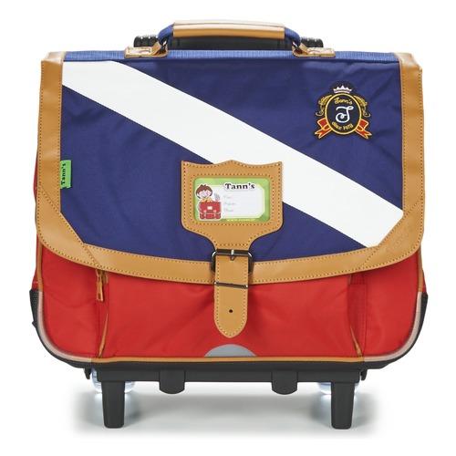 Τσάντες Αγόρι Σχολικές τσάντες με ροδάκια Tann's LES BONS ENFANTS POLO TROLLEY CARTABLE 38CM Μπλέ / Red