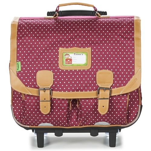 Τσάντες Κορίτσι Σχολικές τσάντες με ροδάκια Tann's LES CHICS FILLES CARTABLE TROLLEY 41CM BORDEAUX