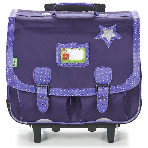 Τσάντες Κορίτσι Σχολικές τσάντες με ροδάκια Tann's LES CHICS FILLES CARTABLE TROLLEY 41CM MARINE