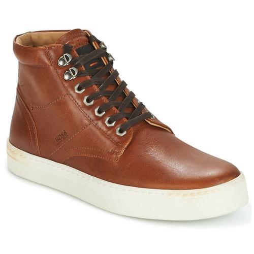 Παπούτσια Άνδρας Ψηλά Sneakers Hugo Boss Orange NOIR HALB LTWS Cognac