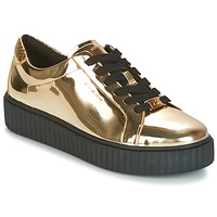 Παπούτσια Γυναίκα Χαμηλά Sneakers MICHAEL Michael Kors TRAVOR LACE UP Gold