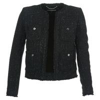 Υφασμάτινα Γυναίκα Σακάκι / Blazers MICHAEL Michael Kors FRAY TWD 4PKT JKT Black / Silver