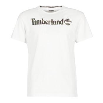 Υφασμάτινα Άνδρας T-shirt με κοντά μανίκια Timberland DUNSTAN RIVER CAMO PRINT άσπρο