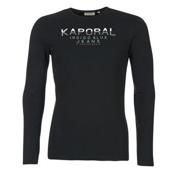 Υφασμάτινα Άνδρας Μπλουζάκια με μακριά μανίκια Kaporal PONIO Black