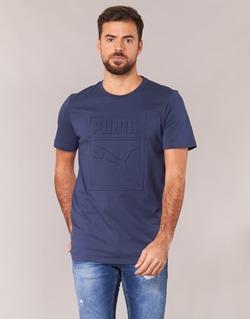 Υφασμάτινα Άνδρας T-shirt με κοντά μανίκια Puma ARCHIVE EMBOSSED LOGO TEE Marine